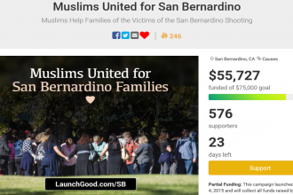 Muslims raise over $55,000 for victims families of San Bernardino