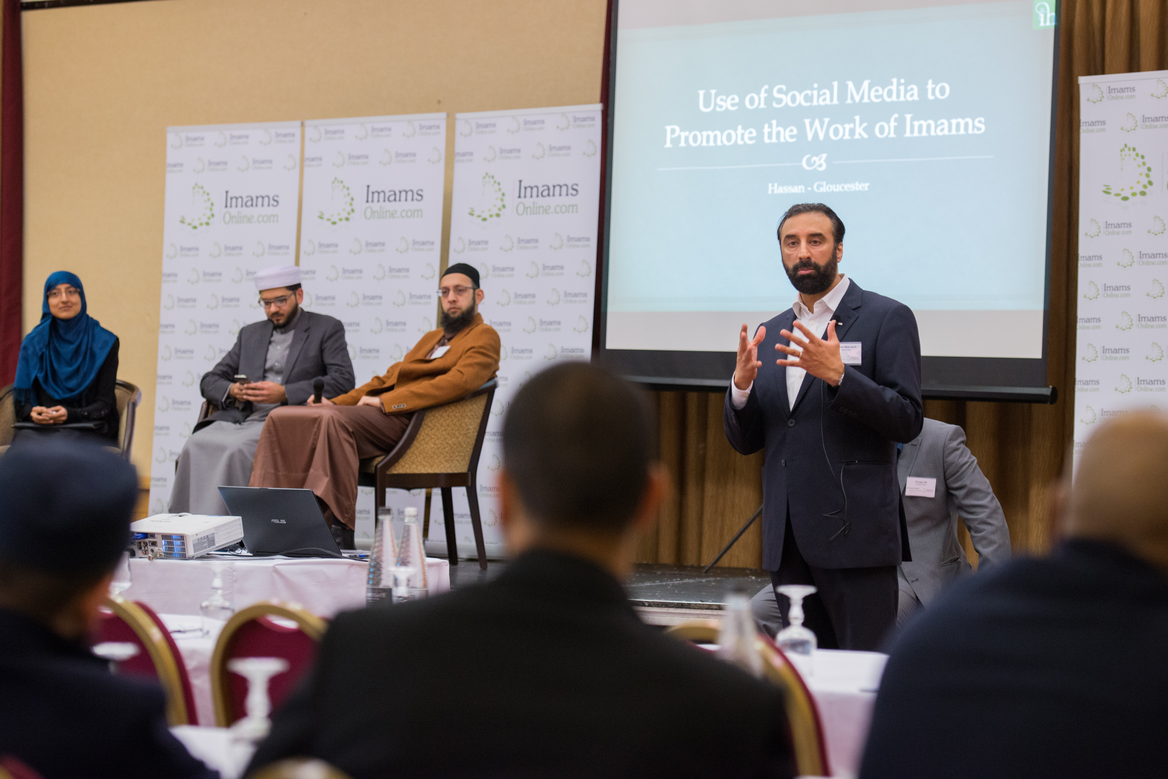 Shaukat Warriach introducing the Religious Panel Discussion at the Imams Online Digital Summit