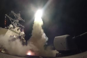 US Military Launch Air Strike Against Assad Following Chemical Attack